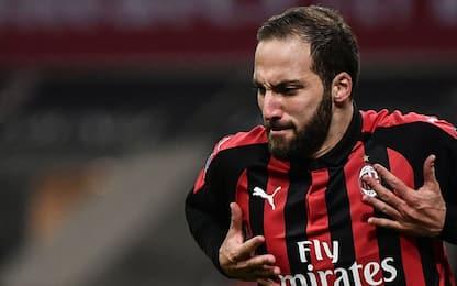 Higuain ritrova il gol, il Milan batte 2-1 la Spal