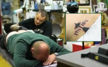 Bjørn, promessa mantenuta: tattoo sul fondoschiena