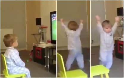 Gol Rangers, il piccolo tifoso impazzisce. VIDEO