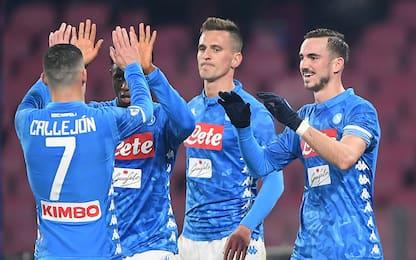 Milik-Ruiz, il Napoli elimina il Sassuolo 2-0