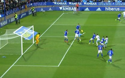 Alvaro Vazquez, che gol: tacco con scorpione
