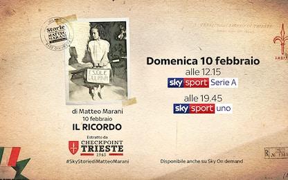"""""""10 febbraio, il ricordo"""": lo speciale Sky Sport"""