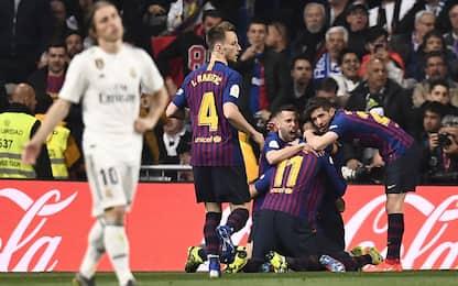 Barça, altro show a Madrid: Real ko 3-0 e finale