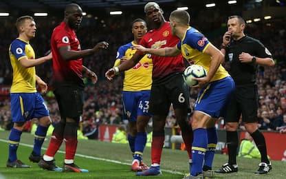 Pogba e Lukaku: lite per un calcio di rigore