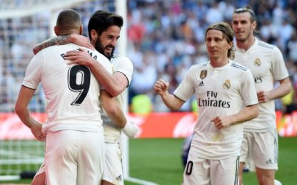 Zidane rilancia il Real. Effetto Juve, Atletico ko