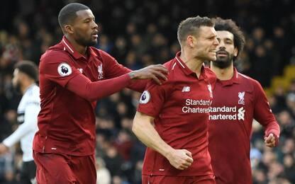 Premier: Liverpool, vittoria e vetta. Chelsea ko