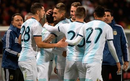 L'Argentina vince in Marocco, Joya-Lautaro a secco