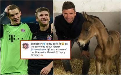 Müller, omaggio a Neuer: chiama il puledro Manuel