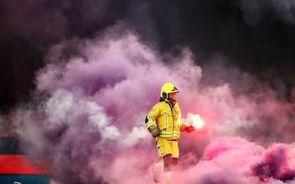 Follia ultras: partita sospesa in Belgio