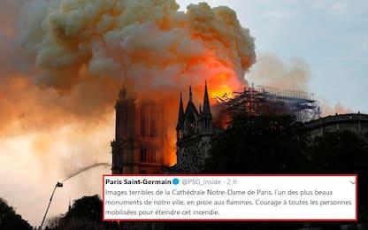 Notre-Dame tra le fiamme, le reazioni dello sport