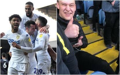 Leeds, tifoso esulta e si rompe la caviglia, ma…