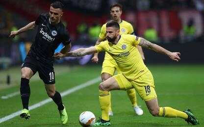 Pedro riprende Jovic: 1-1 tra Eintracht e Chelsea