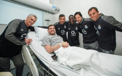 Casillas, il Porto gli fa visita in ospedale