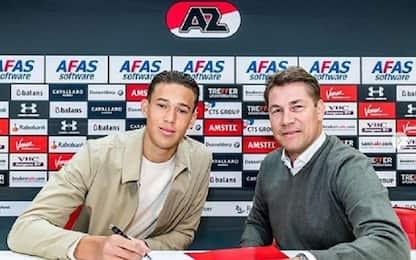 Maxim Gullit, primo contratto pro con l'AZ Alkmaar