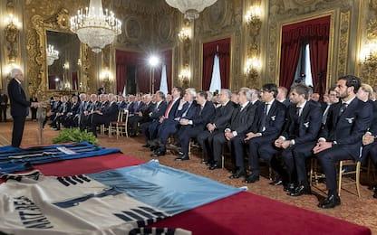 Atalanta e Lazio da Mattarella prima della finale