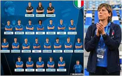 Italia donne, ci siamo: le 23 per il Mondiale