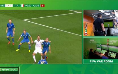 Italia, beffa VAR: gol annullato al 92'. VIDEO