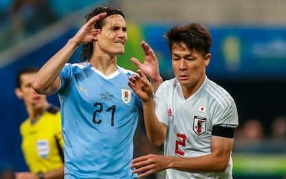 Copa America, Uruguay fermato dal Giappone: 2-2