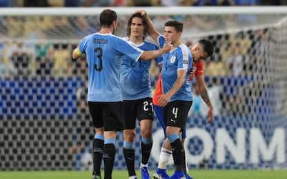 Cavani piega il Cile. Ecuador-Giappone, 1-1 beffa
