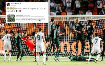 """Politico provoca, Mahrez segna: """"Il gol è per te"""""""