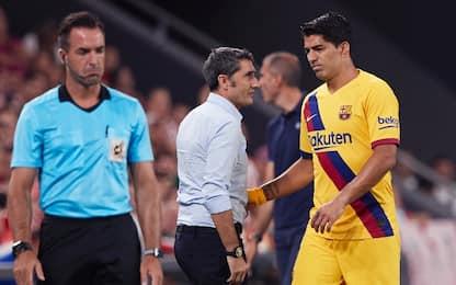 Barça, si ferma anche Suarez: guai al polpaccio