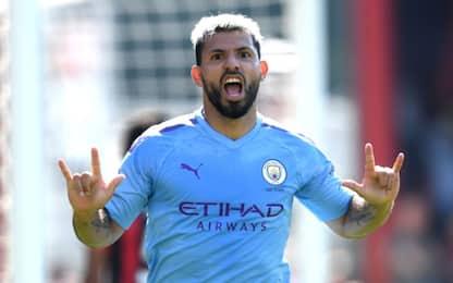 City, 3-1 al Bournemouth: doppietta di Aguero