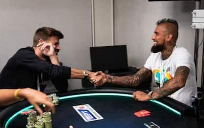 Piquè e Vidal star a poker: vincono mezzo milione
