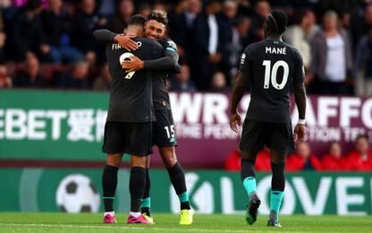 Festa Liverpool: 3-0 al Burnley e primo posto