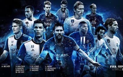 Top 11 dell'anno Fifa, ci sono CR7 e De Ligt. FOTO