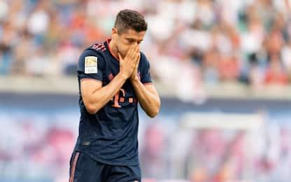 Bayern, Lewa non basta: è 1-1 a Lipsia