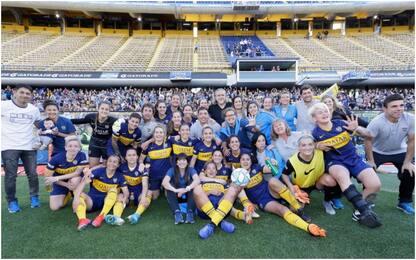Primo Superclasico donne, Boca umilia River 5-0