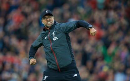 Il Liverpool vince al 95', è 8 su 8 per Klopp