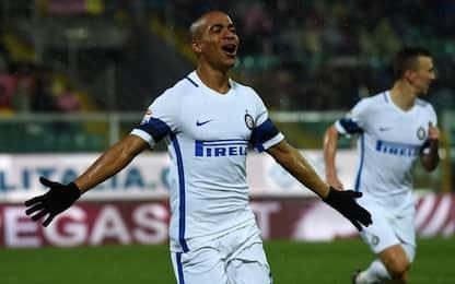 L'Inter mette la sesta, a Palermo basta Joao Mario
