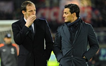 Juventus-Milan: le scelte di Allegri e Montella