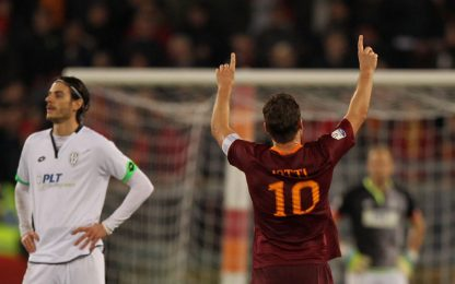 Decide Totti, Roma-Cesena 2-1: derby in semifinale