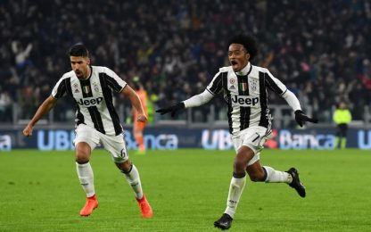 La Juve balla con Cuadrado, Inter battuta 1-0