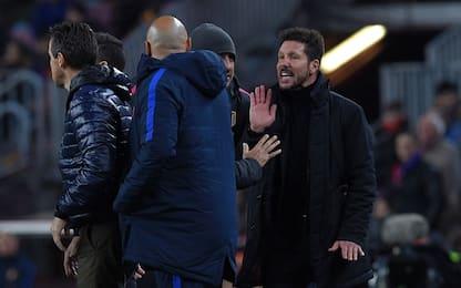 Barça-Atletico, polemica Simeone contro l'arbitro