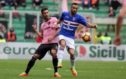 Palermo beffato, la Samp acciuffa il pari al 90'