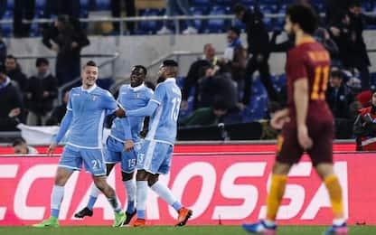 Tim Cup, primo derby alla Lazio: Roma battuta 2-0