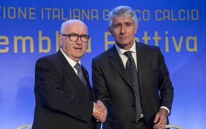 Figc, Tavecchio rieletto presidente. Battuto Abodi