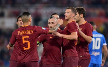 Serie A, Dzeko dice 33: Roma-Empoli 2-0