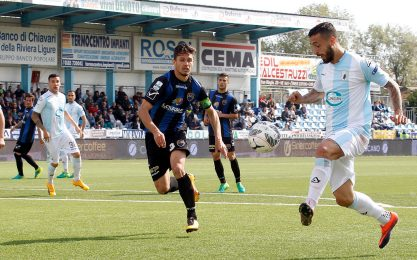 Entella, test in famiglia in vista del Novara