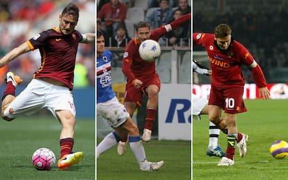"""Dal tacco al lancio no-look: il Totti """"inventore"""""""