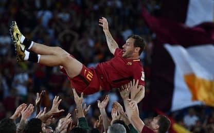 La festa di Totti: un addio fra le lacrime