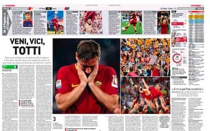 Il mondo ai piedi di Totti: la rassegna stampa