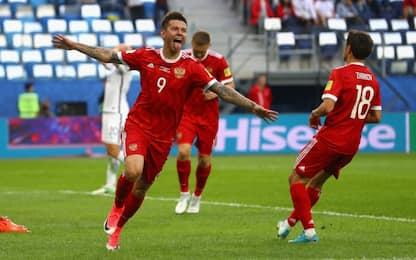 Russia-Nuova Zelanda 2-0: gol e highlights