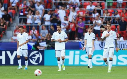 L'Italia si ferma contro Schick: azzurrini ko 3-1