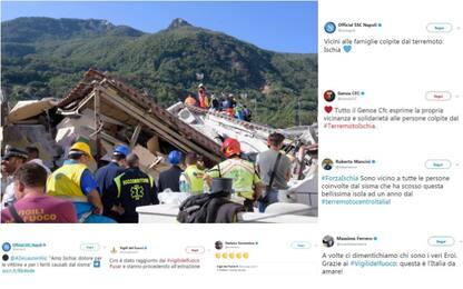 Terremoto Ischia, le reazioni del mondo del calcio