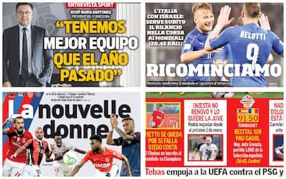 Dall'Italia alla Serie A: la rassegna stampa
