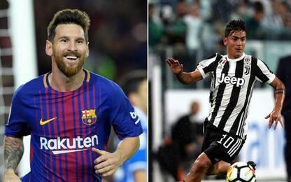 Barça-Juve, Messi vs Dybala: sfida fenomenale